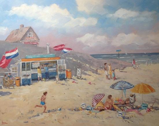 Lekker visje op het strand